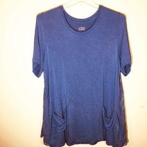 LOGO by Lori Goldstein Short Sleeve Tunic 2X Shirt